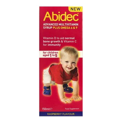 ABIDEC ADVANCED MULTIVITAMIN SYRUP PLUS OMEGA 6&9 (150ML)