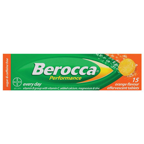 BEROCCA EFFERVESCENT TABS ORANGE (15)