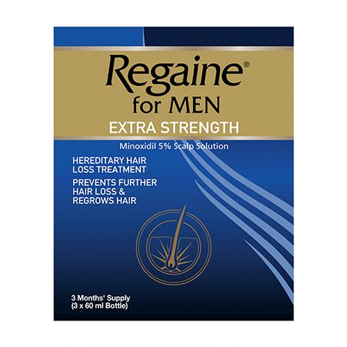 REGAINE EXTRA STRENGTH 5% SOLUTION TRIPLE (3X60ML)