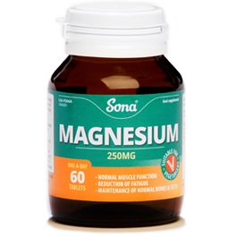 SONA MAGNESIUM 250MG TABLETS (60)