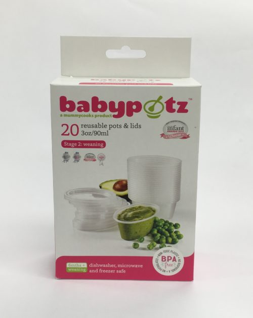 Babypotz Food Storage Pots - Stage 2 (6m+)