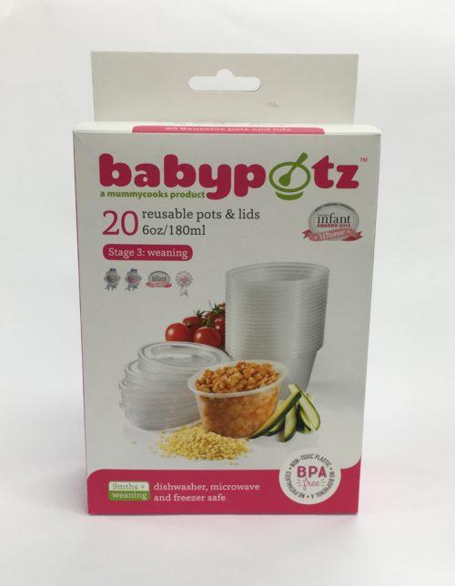 Babypotz Food Storage Pots – Stage 3 (9m+)