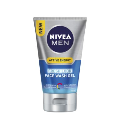 NIVEA MEN ACTIVE ENERGY FRESH LOOK FACE WASH GEL (100ML)