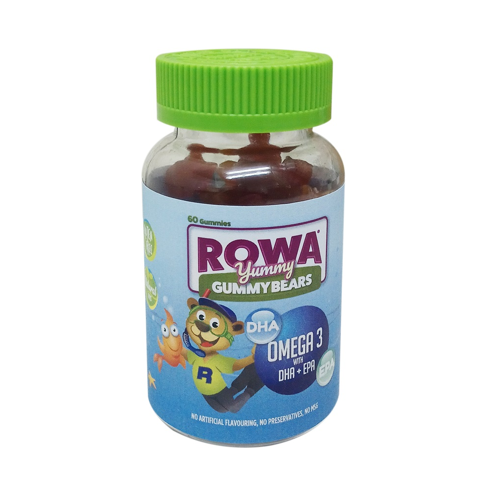 ROWA YUMMY GUMMYBEARS OMEGA 3 WITH DHA & EPA (60)