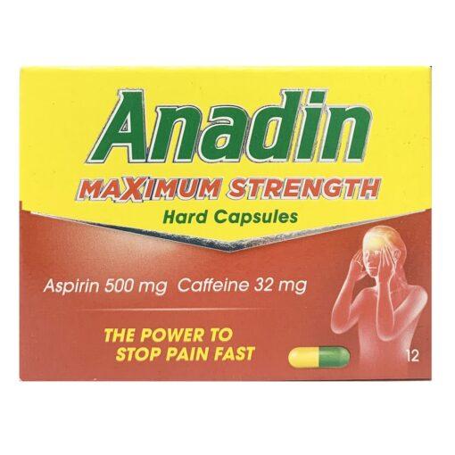 ANADIN TABLETS - MAXIMUM STRENGTH (12)