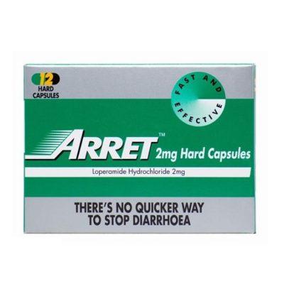 ARRET CAPSULES 2MG LOPERAMIDE (12)