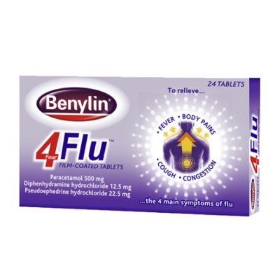 BENYLIN 4 FLU TABLETS (24)