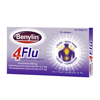 BENYLIN 4 FLU TABLETS (24)