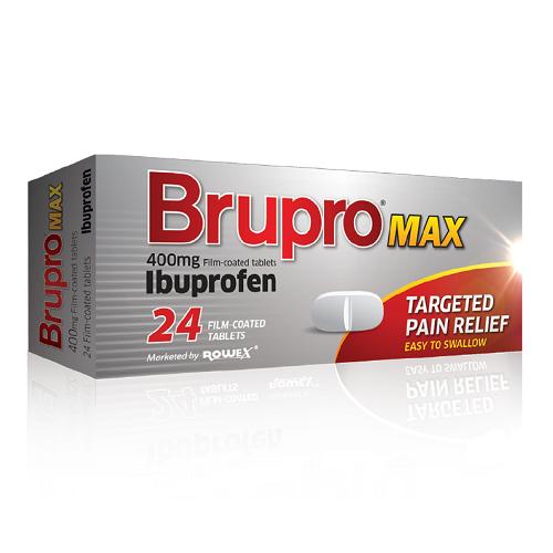BRUPRO TABLETS 400MG IBUPROFEN (24)