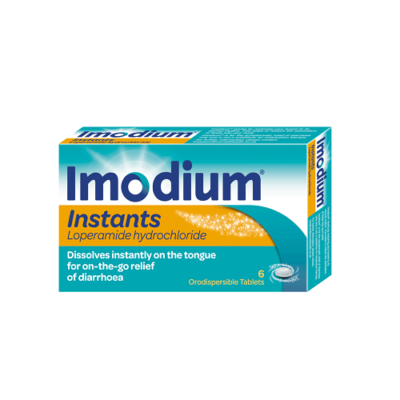 IMODIUM INSTANTS 2MG TABLETS LOPERAMIDE (12)