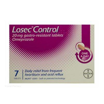 LOSEC CONTROL 20MG TABLETS OMEPRAZOLE (7)