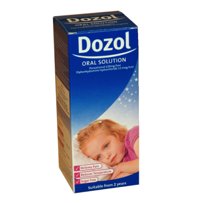 DOZOL ORAL SOLUTION 120MG/12.5MG/5ML (100ML)
