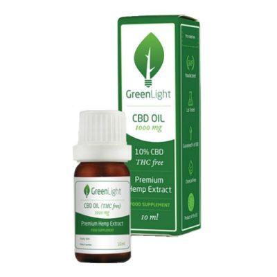 GREENLIGHT 10% CBD OIL THC FREE (10ML)