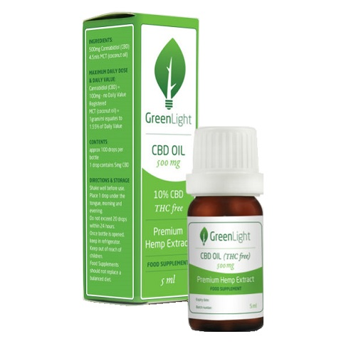 GREENLIGHT 10% CBD OIL THC FREE (5ML)