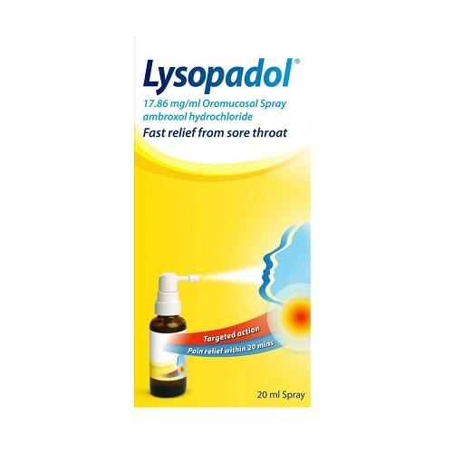 LYSOPADOL OROMUCOSAL THROAT SPRAY (20ML)