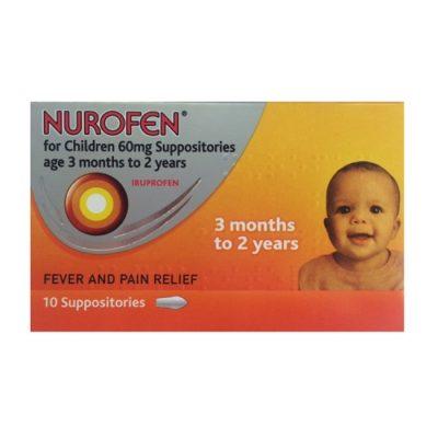 NUROFEN FOR CHILDREN 60MG SUPPOSITORIES IBUPROFEN (10)