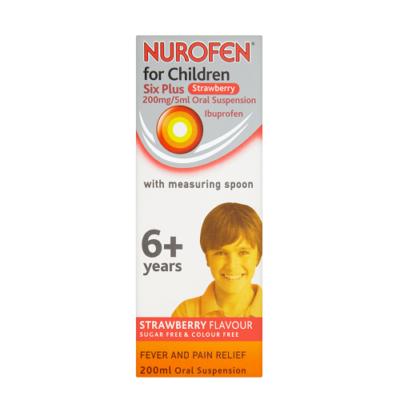 NUROFEN FOR CHILDREN 200MG/5ML IBUPROFEN 6M+ S'BERRY (200ML)