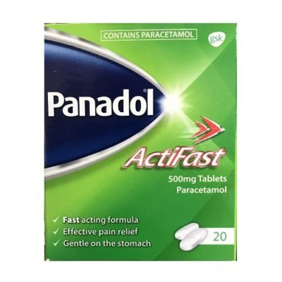 PANADOL ACTIFAST 500MG TABLETS PARACETAMOL (20)