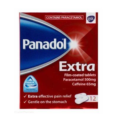PANADOL EXTRA 500MG TABLETS PARACETAMOL (12)
