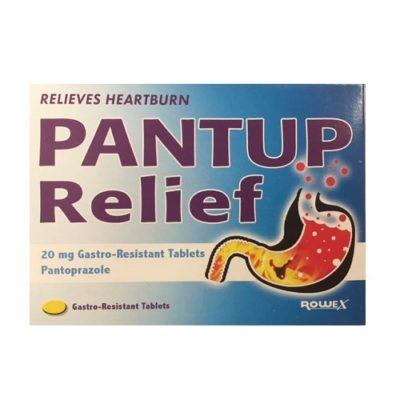 PANTUP RELIEF 20MG TABLETS PANTOPRAZOLE