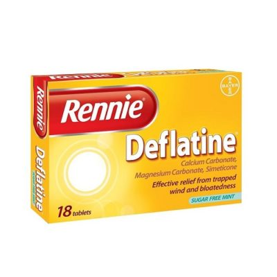 RENNIE DEFLATINE CHEWABLE TABLETS (18)