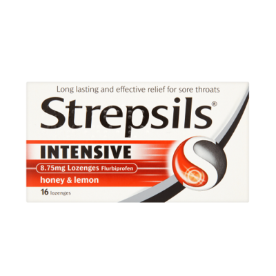STREPSILS INTENSIVE LOZENGES HONEY & LEMON (16)