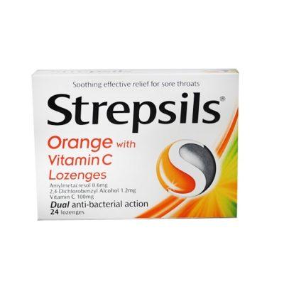 STREPSILS ORANGE LOZENGES WITH VITAMIN C (24)