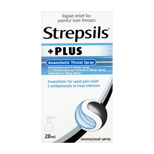 STREPSILS PLUS ANAESTHETIC THROAT SPRAY (20ML)