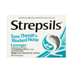 STREPSILS SORE THROAT & BLOCKED NOSE LOZENGES (24)