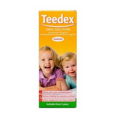 TEEDEX ORAL SOLUTION 120MG/12.5MG/5ML (100ML)