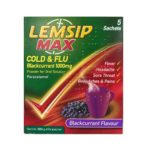 LEMSIP MAX COLD & FLU BLACKCURRANT 1000MG SACHETS (5)