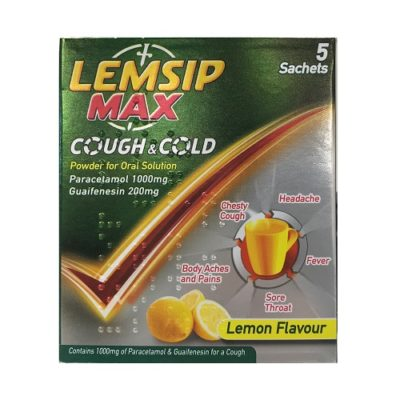 LEMSIP MAX COUGH & COLD SACHETS 1000MG/200MG (5)