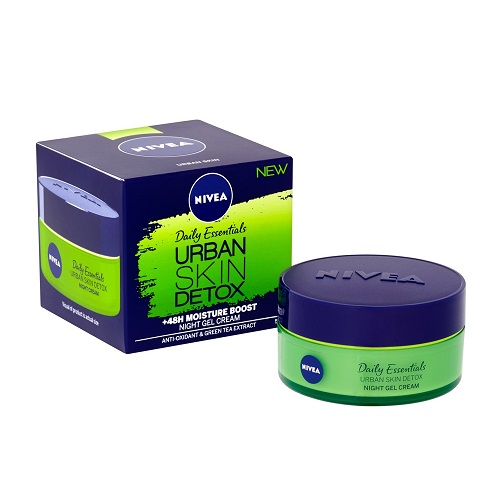 NIVEA URBAN SKIN DETOX NIGHT GEL CREAM (50ML)