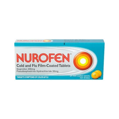 NUROFEN COLD & FLU 200MG/30MG TABLETS (24)
