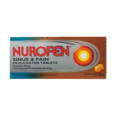 NUROFEN SINUS & PAIN 200MG/30MG TABLETS (24)