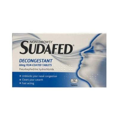 SUDAFED DECONGESTANT 60MG TABLETS (12)
