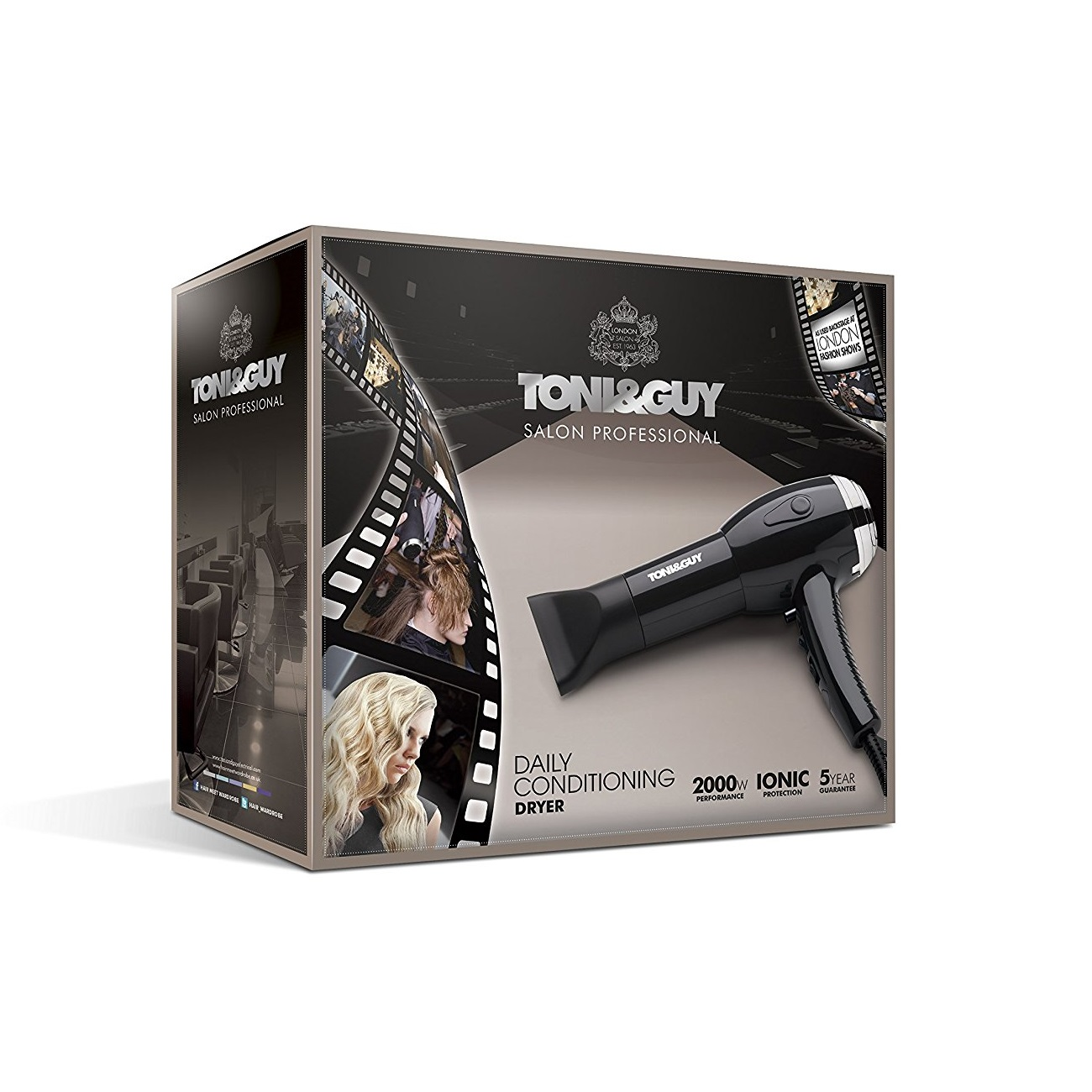 TONI & GUY 2000W IONIC HAIR DRYER