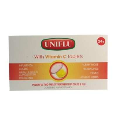 UNIFLU WITH VITAMIN C TABLETS (24)