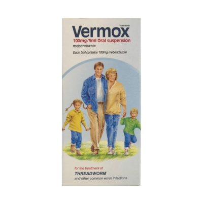 VERMOX 100MG/5ML ORAL SUSPENSION MEBENDAZOLE (30ML)