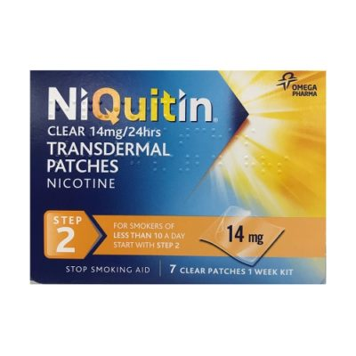 NIQUITIN CLEAR STEP 2 NICOTINE PATCH 14MG/HR (7)