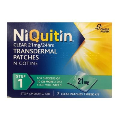 NIQUITIN CLEAR STEP 1 NICOTINE PATCH 21MG/HR (7)