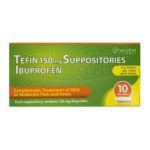TEFIN 150MG SUPPOSITORIES IBUPROFEN (10)