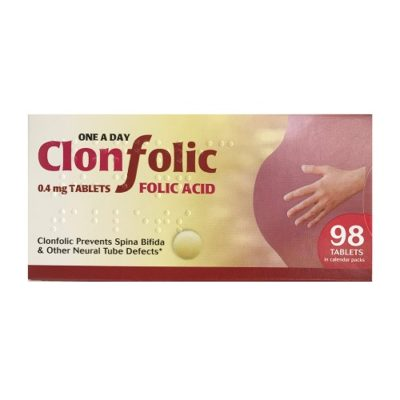 CLONFOLIC 0.4MG FOLIC ACID TABLETS (98)
