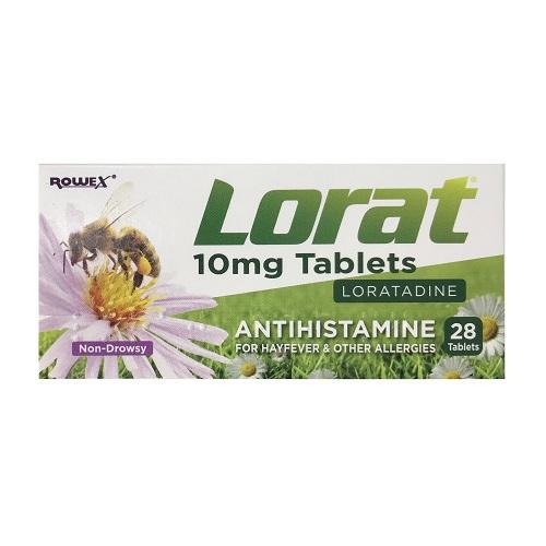 LORAT 10MG TABLETS LORATADINE (28)