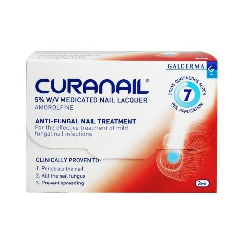 Curnail 5 Amorolfine Medicated Nail Lacquer 2 5ml