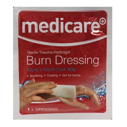 MEDICARE HYDROGEL BURN DRESSING 10CMX10CM (1)