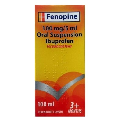 FENOPINE 100MG/5ML IBUPROFEN 3M+ S'BERRY (100ML)