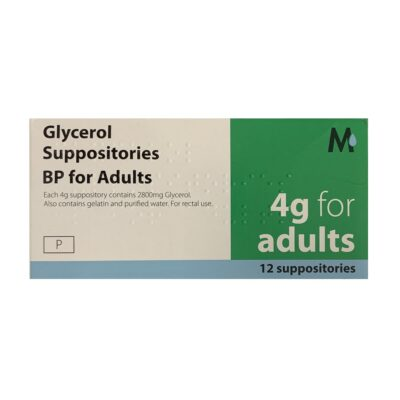 GLYCEROL SUPPOSITORIES BP FOR ADULTS 4G (12)