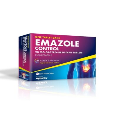 EMAZOLE CONTROL 20MG TABLETS ESOMEPRAZOLE (14)