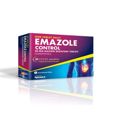 EMAZOLE CONTROL 20MG TABLETS ESOMEPRAZOLE (7)